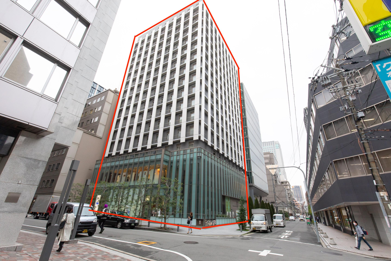 ④進むと、ホテルユニゾ大阪淀屋橋が見えてきます。